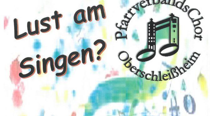 Pfarrverbandschor – Wir suchen DIch!